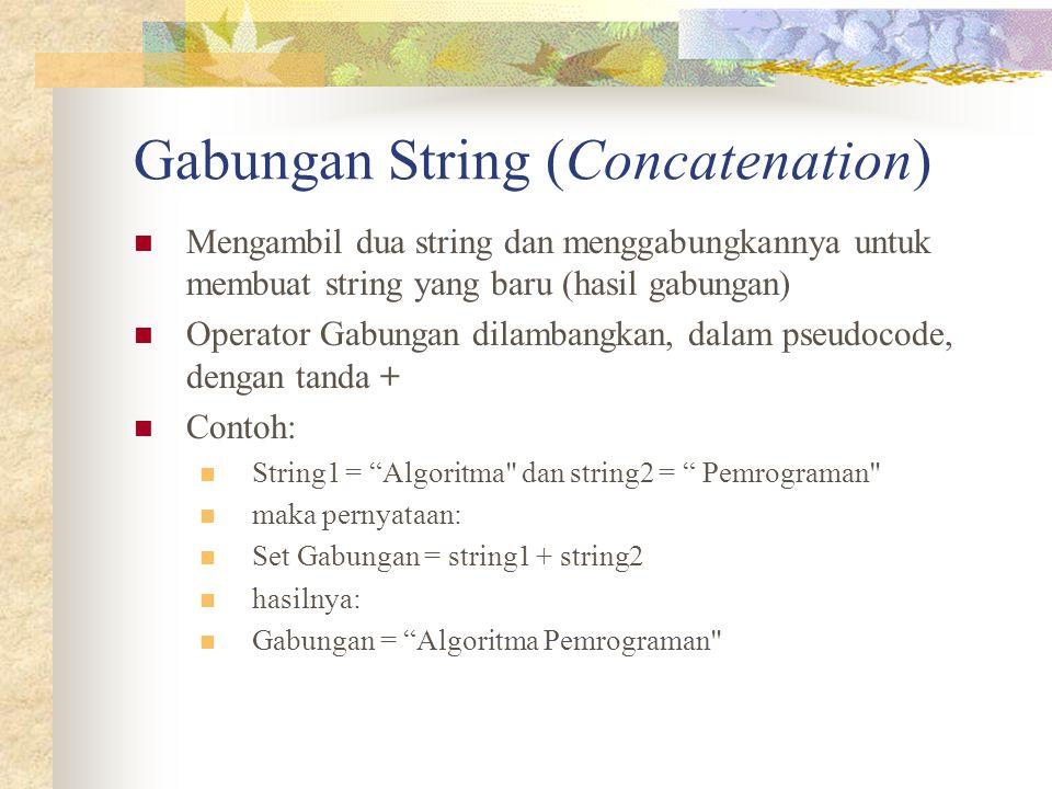 Gabungan String (Concatenation)