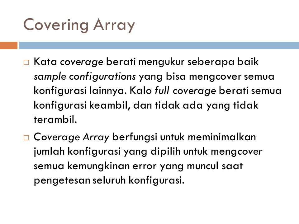 Covering Array