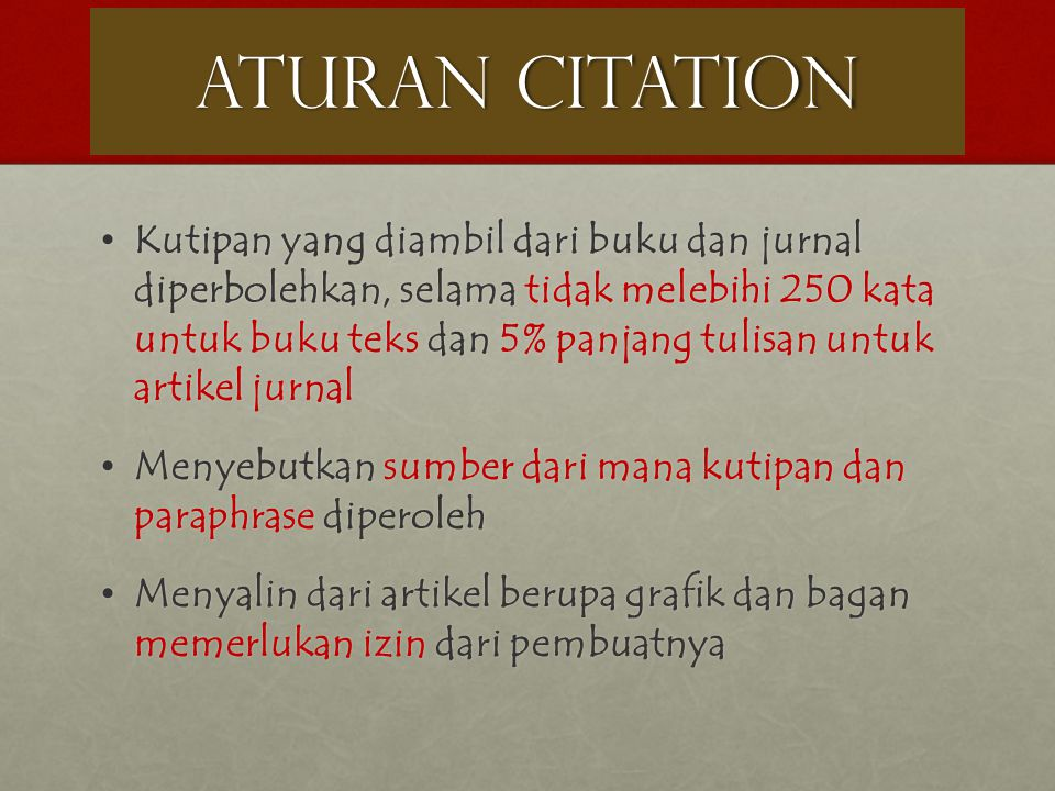 ATURAN CITATION