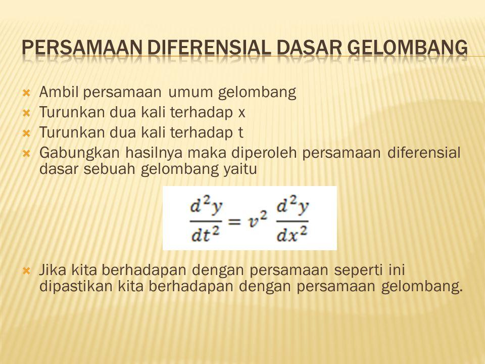 Persamaan diferensial dasar gelombang