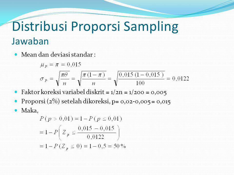 Distribusi Proporsi Sampling Jawaban