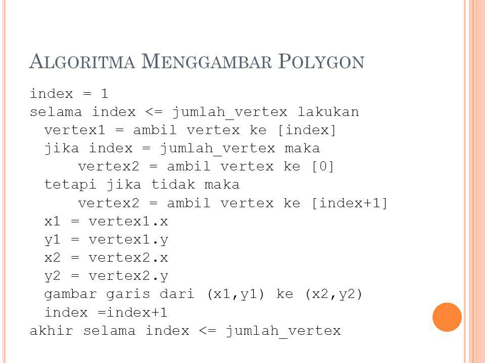 Algoritma Menggambar Polygon
