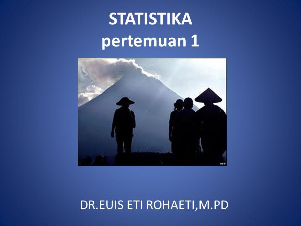 STATISTIKA pertemuan 1 DR.EUIS ETI ROHAETI,M.PD