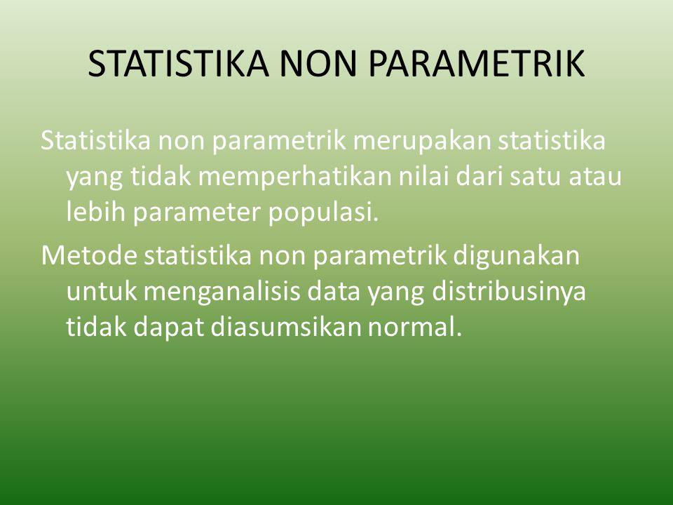 STATISTIKA NON PARAMETRIK