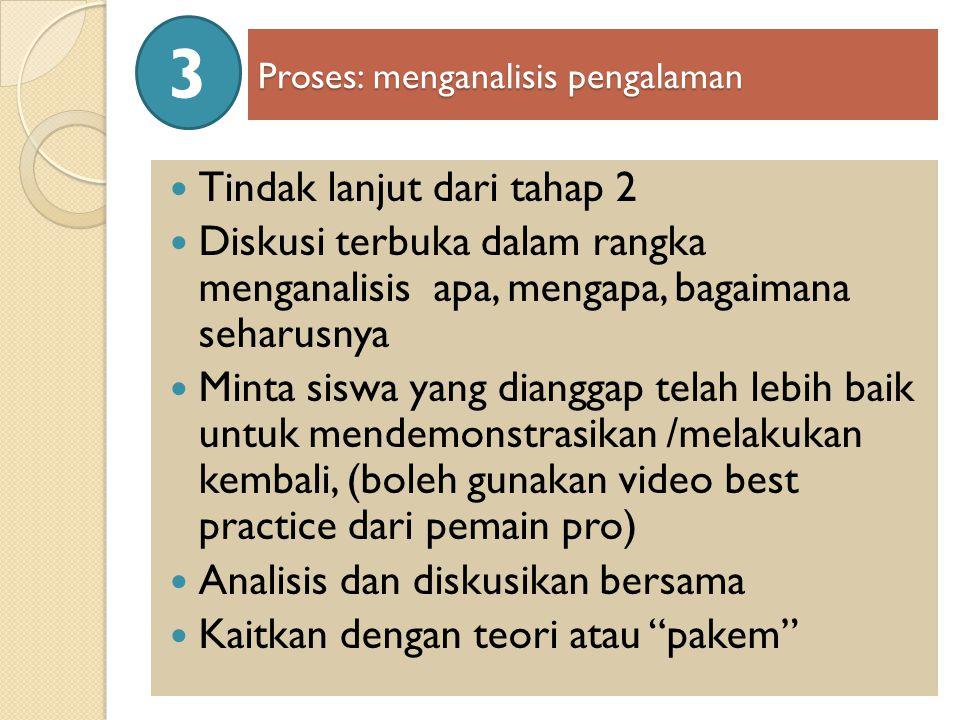 Proses: menganalisis pengalaman