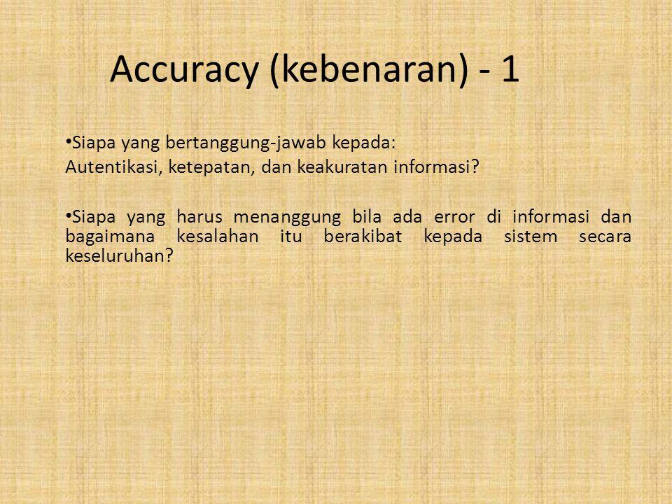 Accuracy (kebenaran) - 1