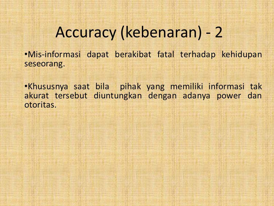 Accuracy (kebenaran) - 2