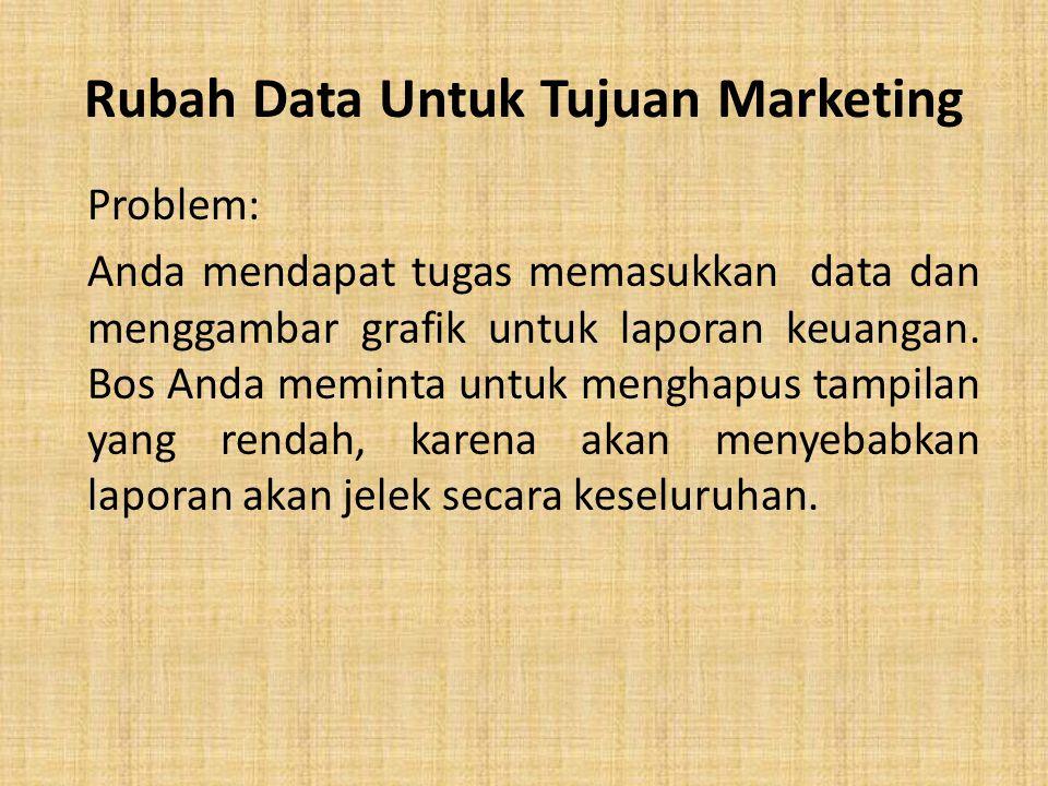 Rubah Data Untuk Tujuan Marketing