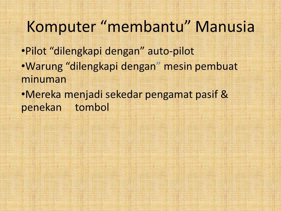 Komputer membantu Manusia