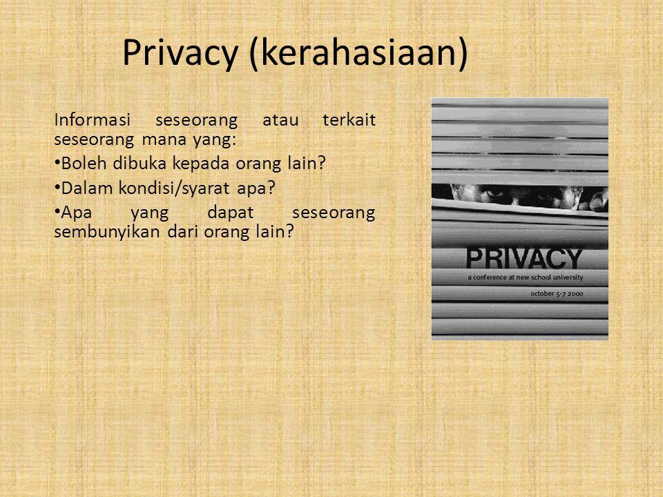 Privacy (kerahasiaan)