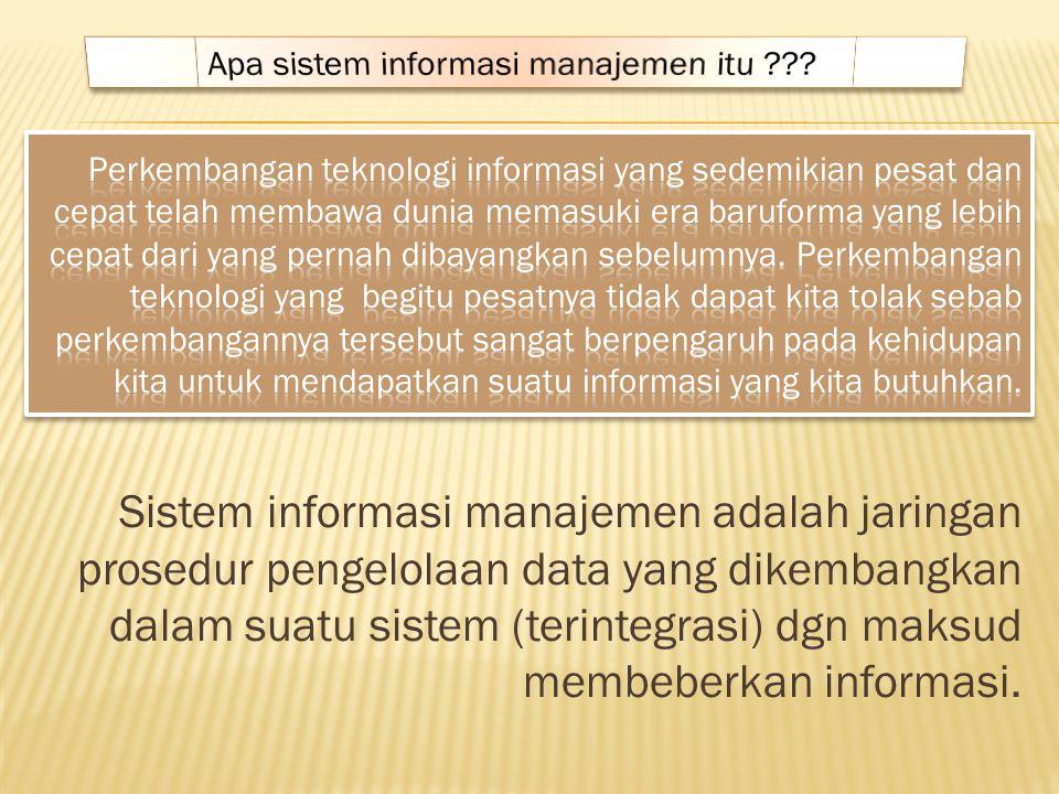 Apa sistem informasi manajemen itu