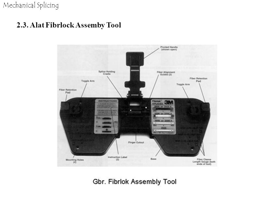 2.3. Alat Fibrlock Assemby Tool
