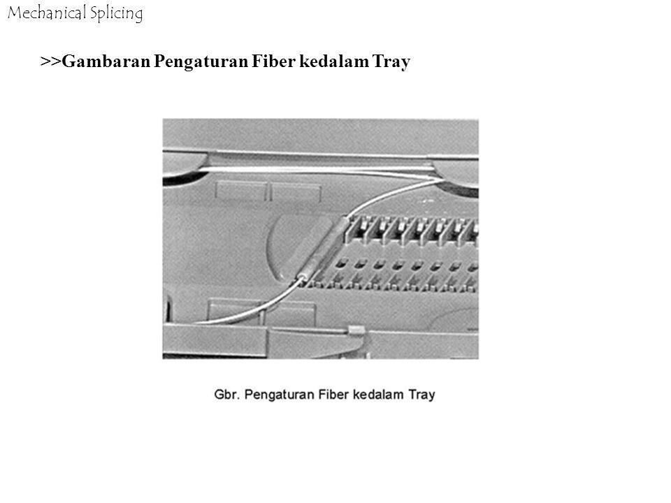 >>Gambaran Pengaturan Fiber kedalam Tray