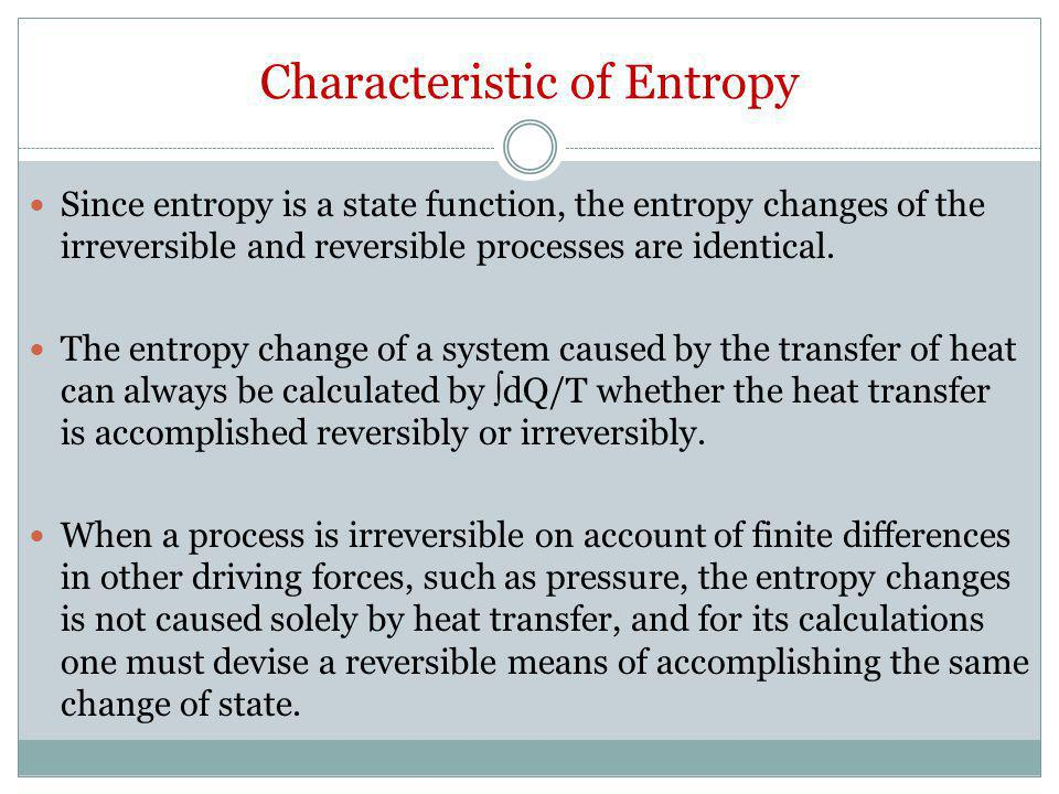 Characteristic of Entropy