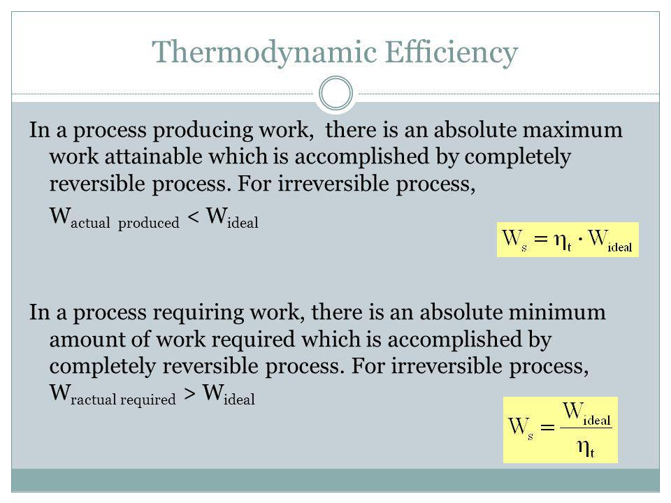 Thermodynamic Efficiency
