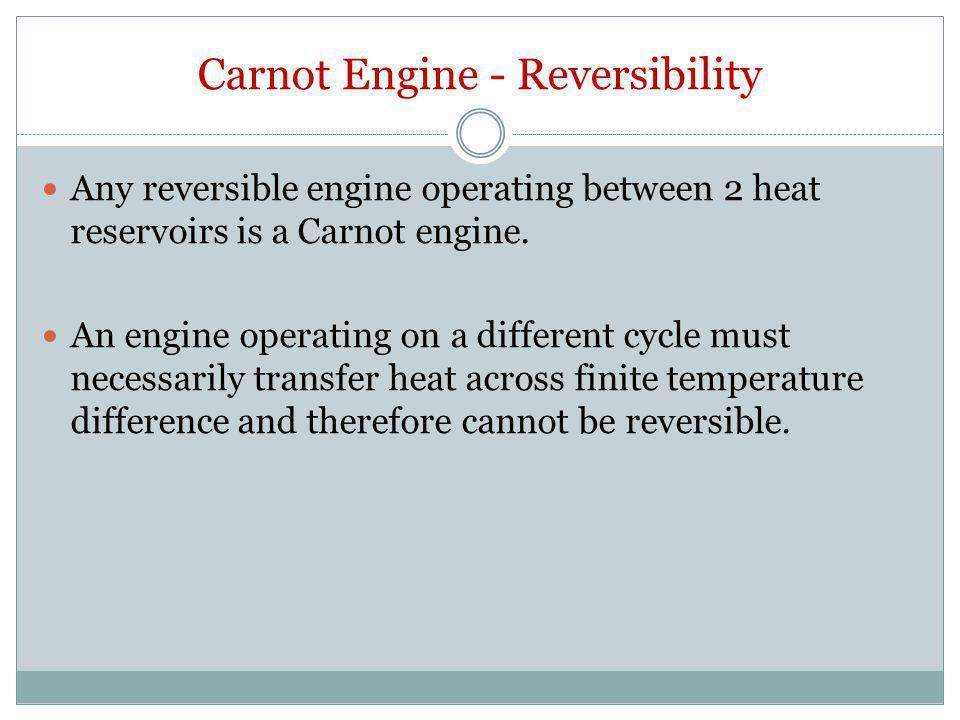Carnot Engine - Reversibility