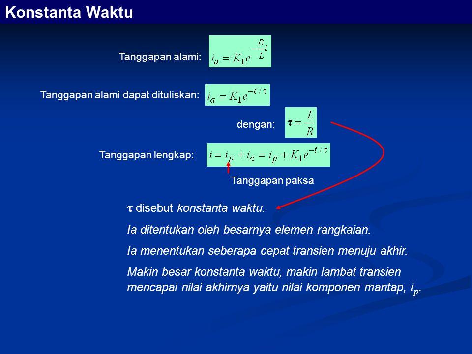Konstanta Waktu  disebut konstanta waktu.