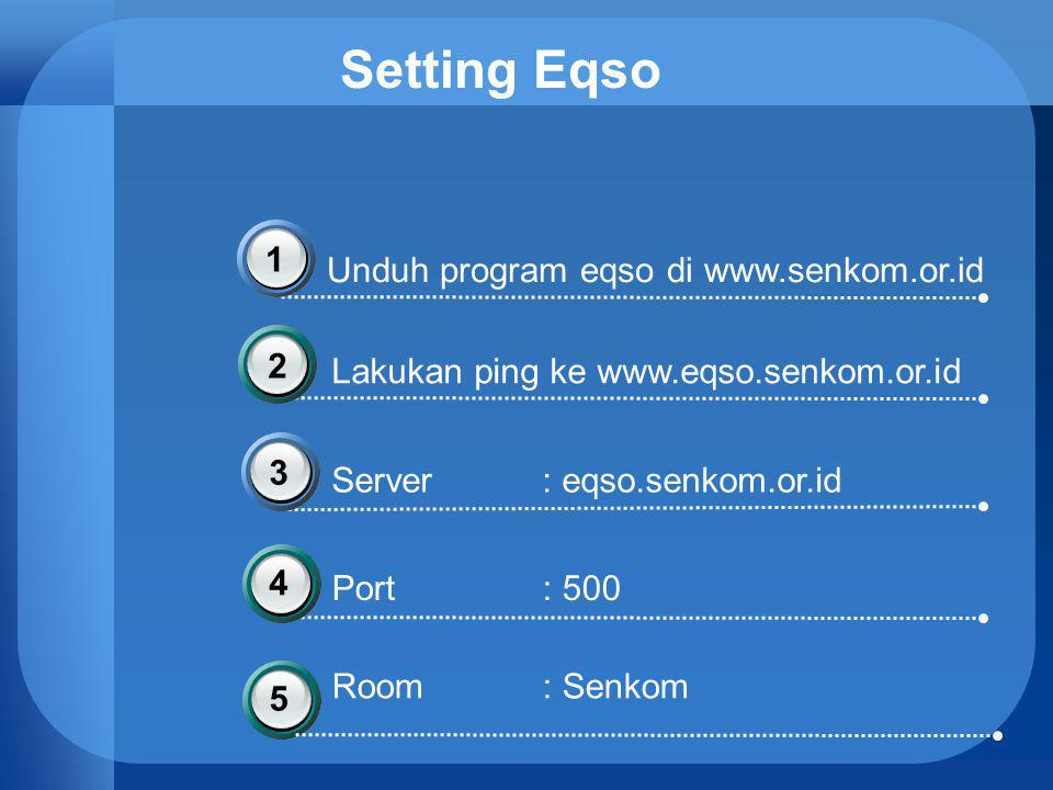 Setting Eqso 1 Unduh program eqso di www.senkom.or.id 2