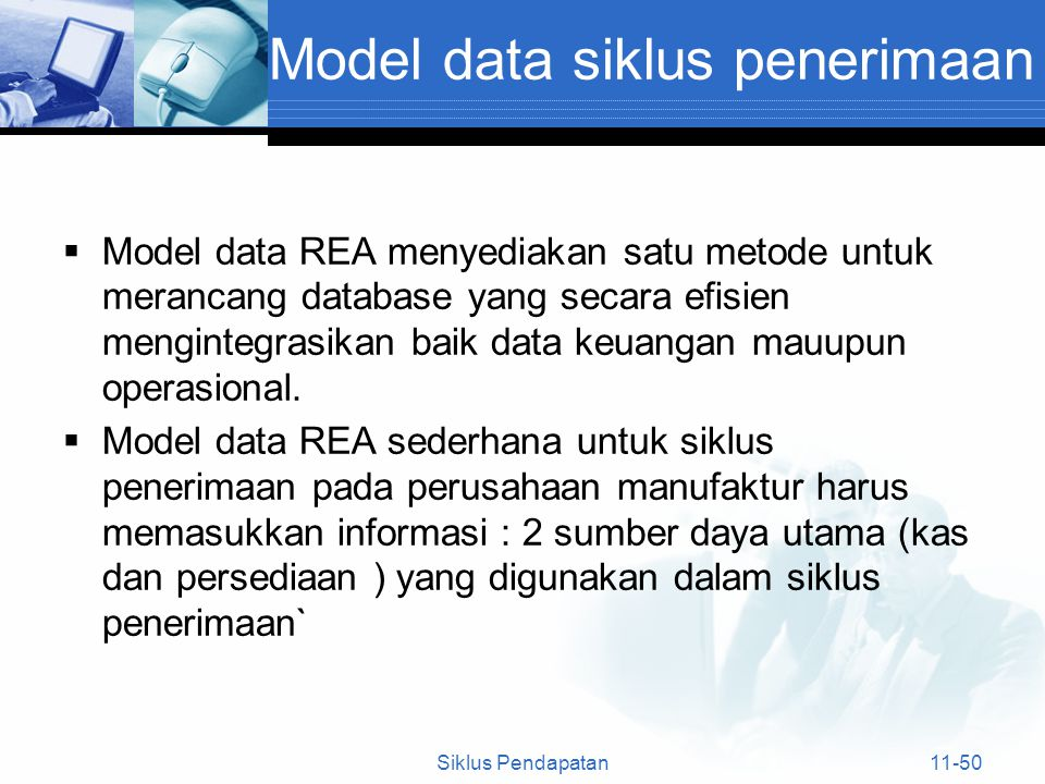 Model data siklus penerimaan
