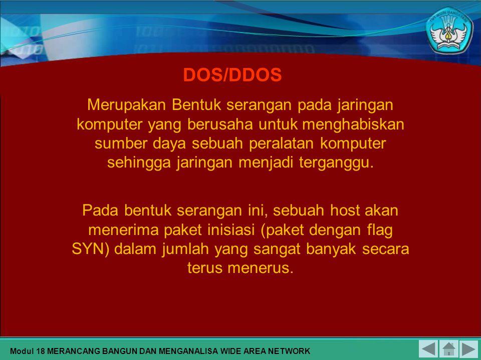 Modul 18 MERANCANG BANGUN DAN MENGANALISA WIDE AREA NETWORK