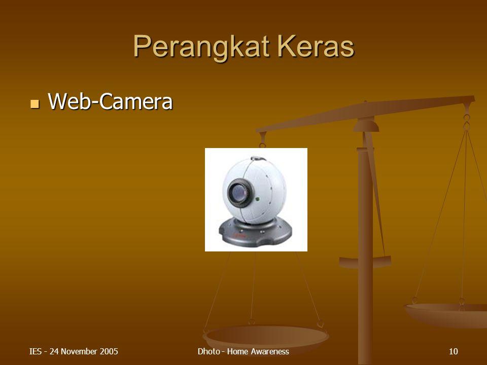 Perangkat Keras Web-Camera IES - 24 November 2005