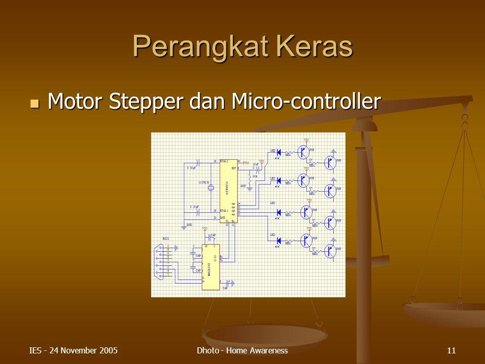 Perangkat Keras Motor Stepper dan Micro-controller