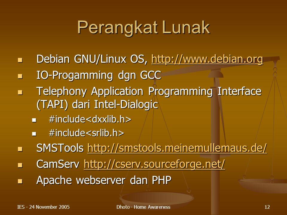Perangkat Lunak Debian GNU/Linux OS, http://www.debian.org