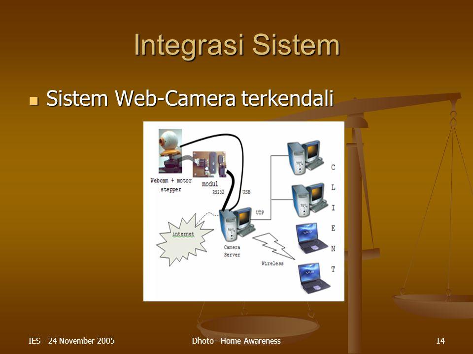 Integrasi Sistem Sistem Web-Camera terkendali IES - 24 November 2005