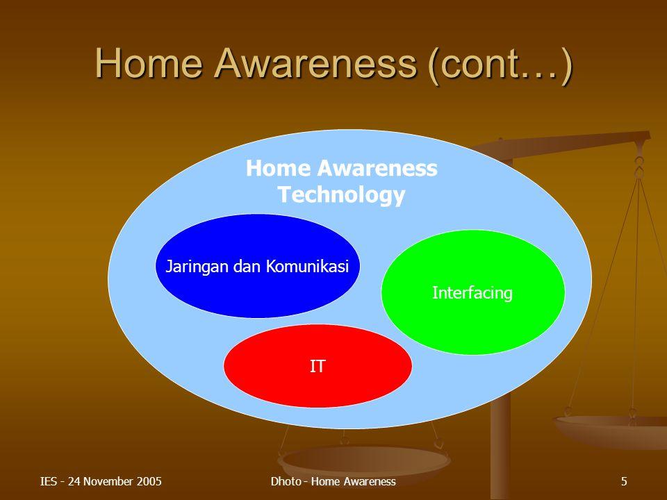 Home Awareness (cont…)