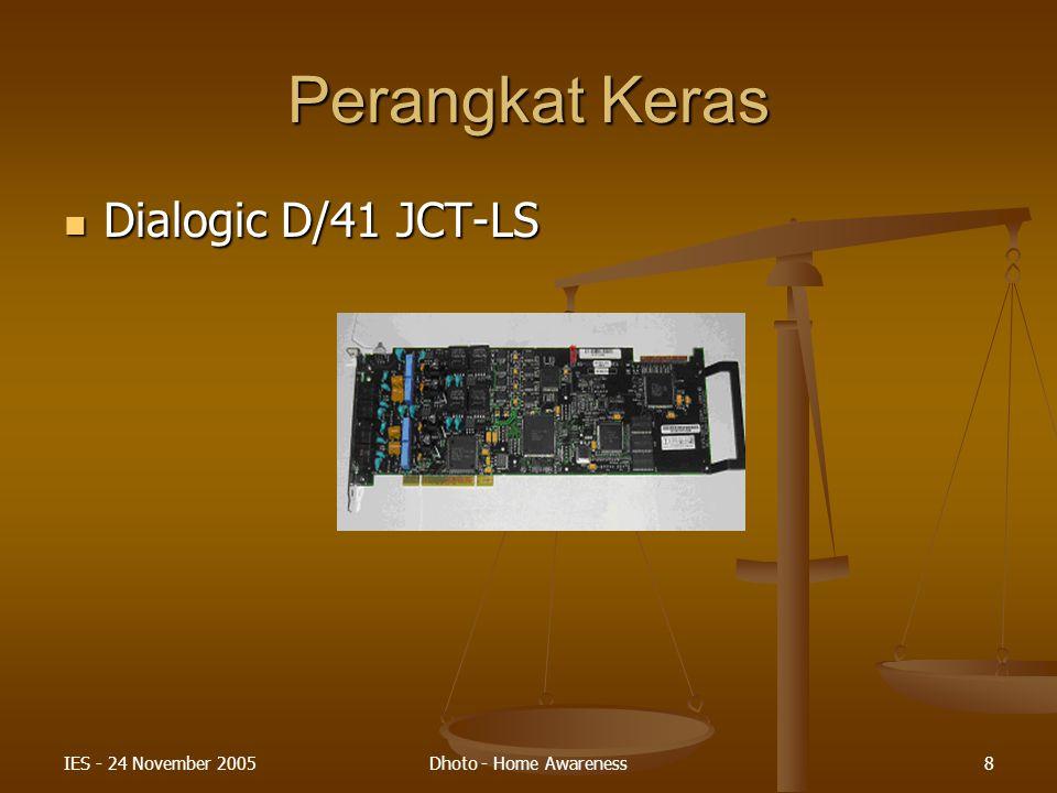 Perangkat Keras Dialogic D/41 JCT-LS IES - 24 November 2005