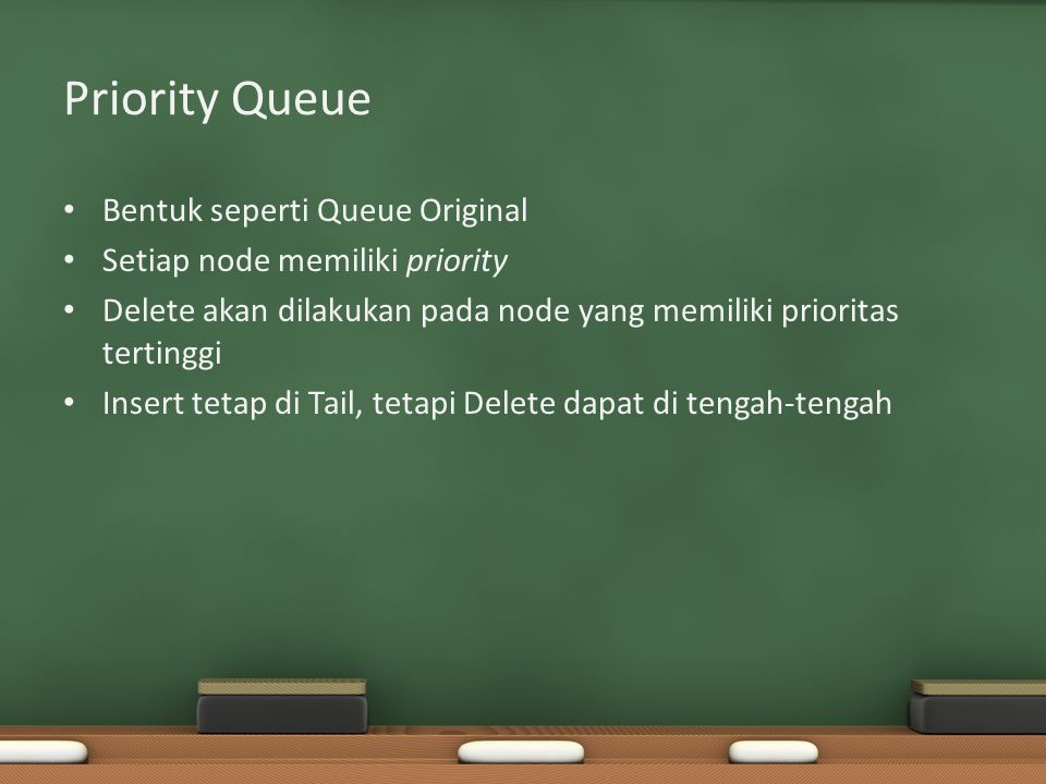 Priority Queue Bentuk seperti Queue Original
