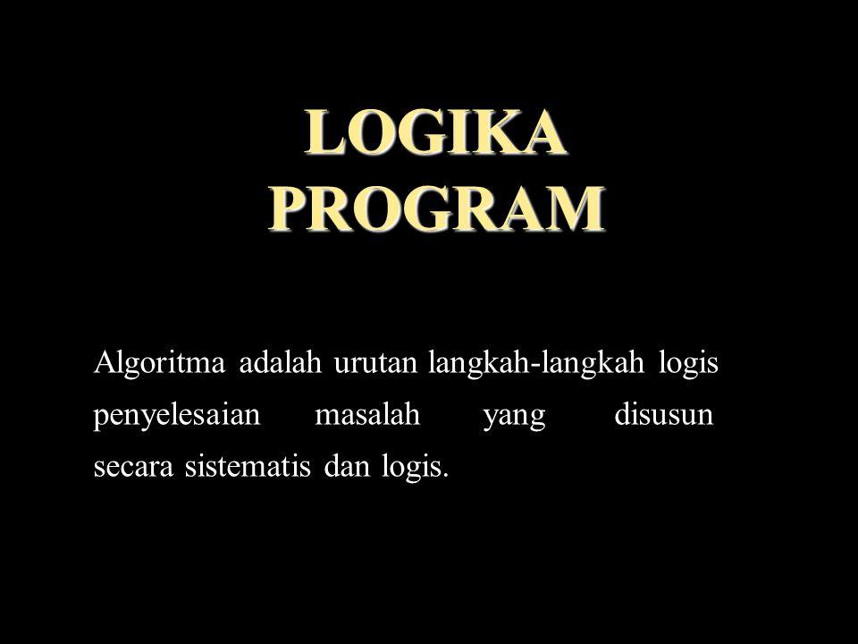 LOGIKA PROGRAM Algoritma adalah urutan langkah-langkah logis