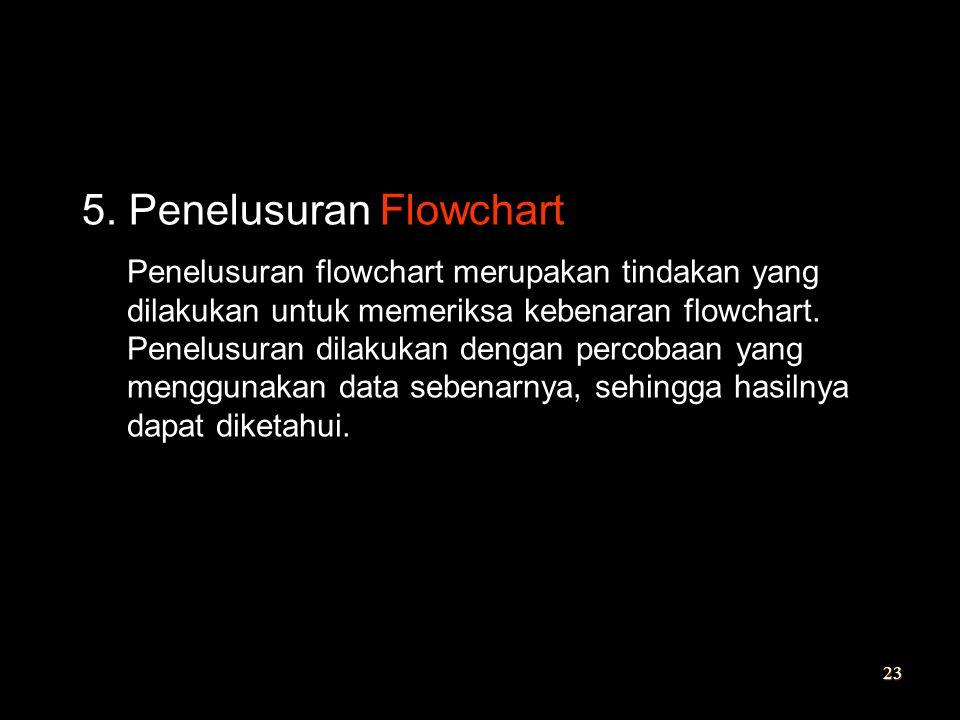 5. Penelusuran Flowchart
