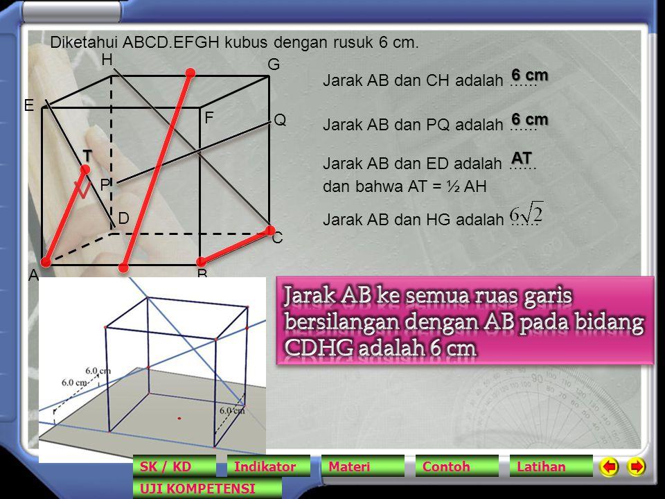 Diketahui ABCD.EFGH kubus dengan rusuk 6 cm.