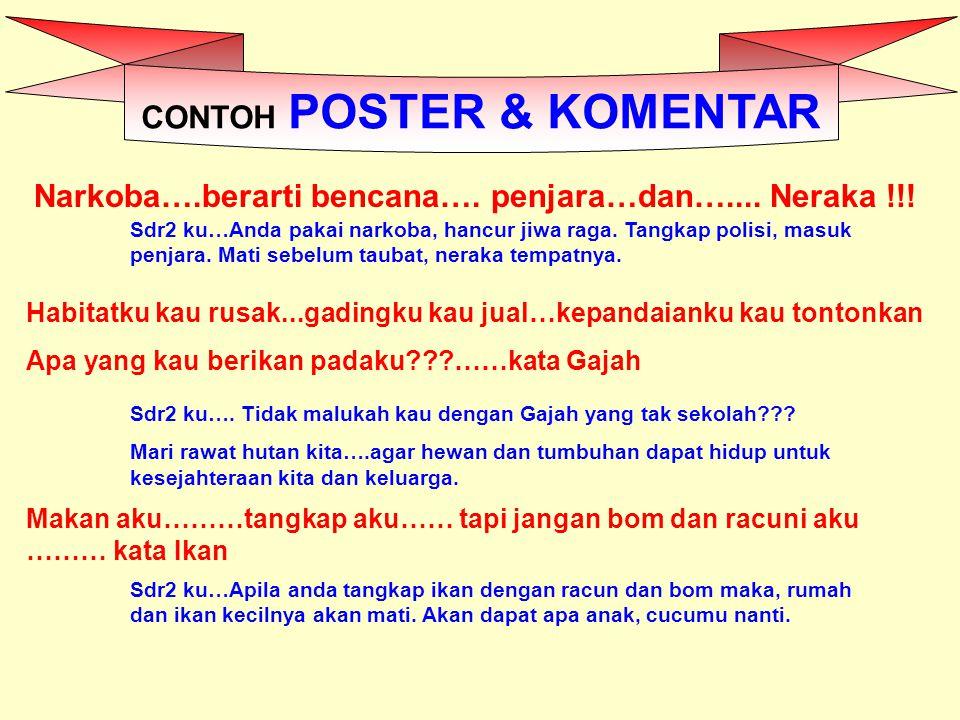 CONTOH POSTER & KOMENTAR