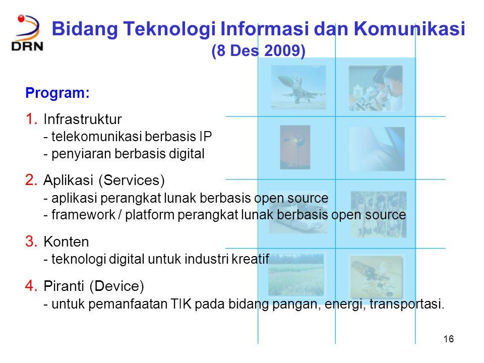 Bidang Teknologi Informasi dan Komunikasi (8 Des 2009)