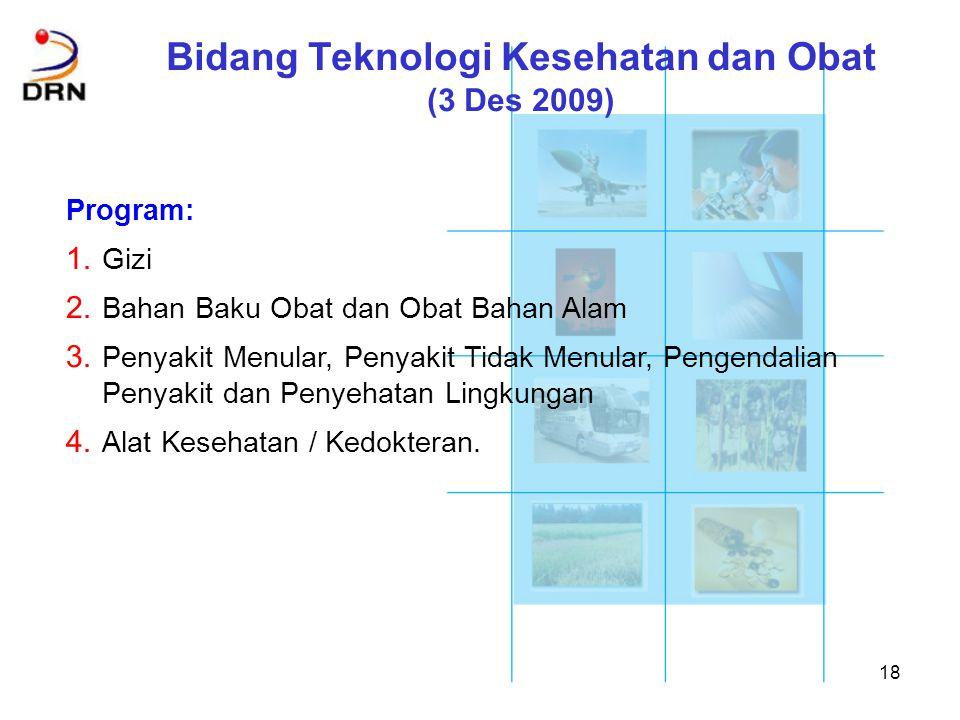Bidang Teknologi Kesehatan dan Obat (3 Des 2009)