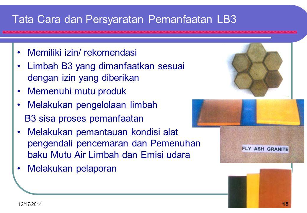 Tata Cara dan Persyaratan Pemanfaatan LB3