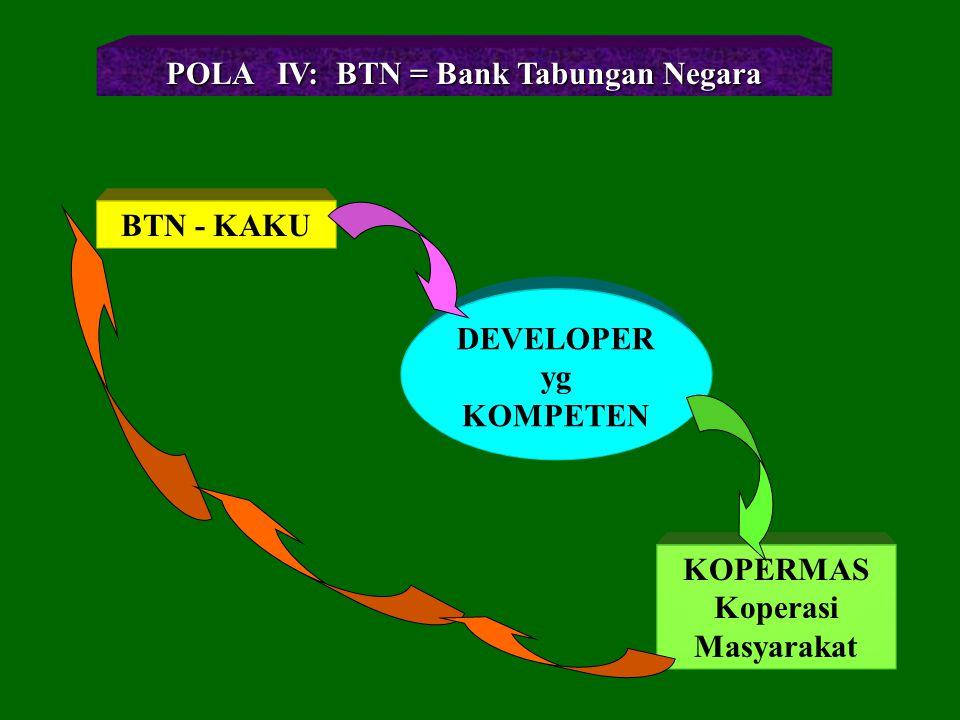 POLA IV: BTN = Bank Tabungan Negara