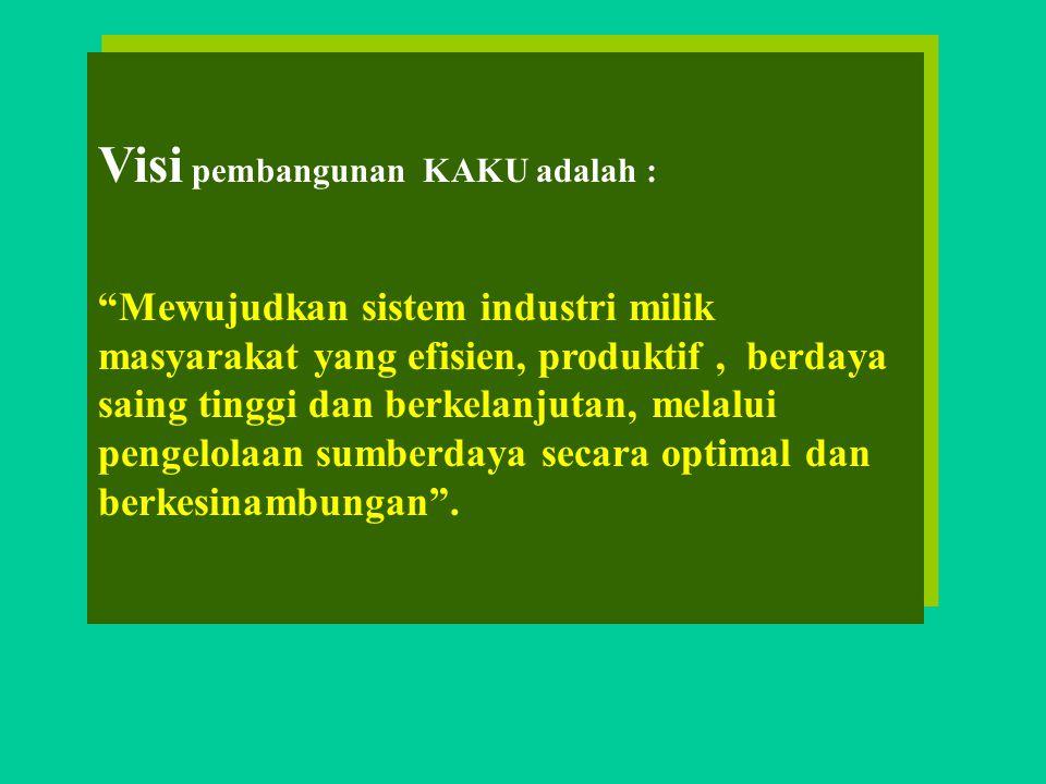 Visi pembangunan KAKU adalah :