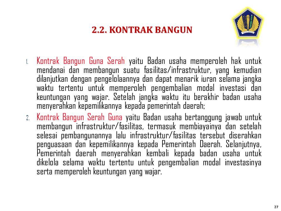 2.2. KONTRAK BANGUN