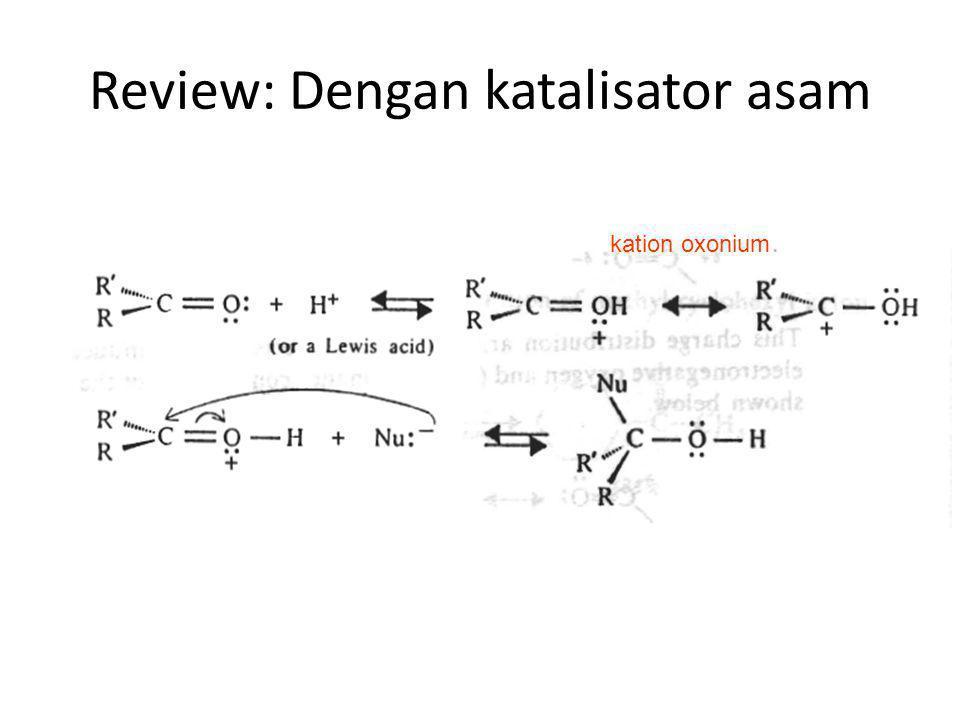 Review: Dengan katalisator asam
