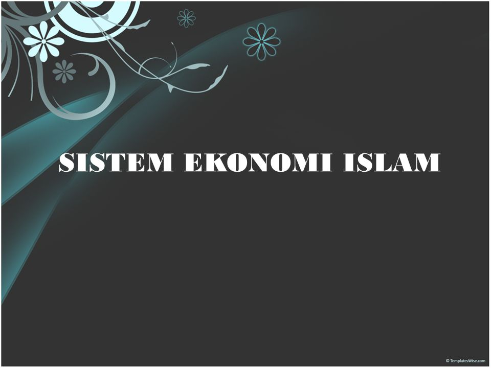 SISTEM EKONOMI ISLAM 29 Mei 2009