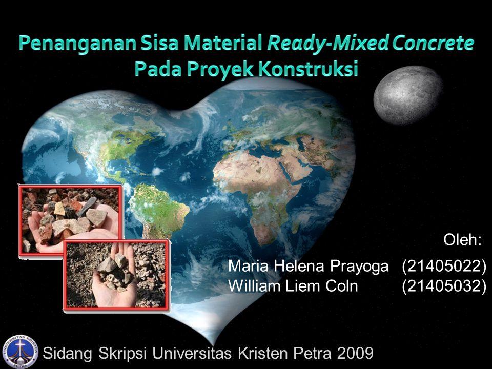 Penanganan Sisa Material Ready-Mixed Concrete Pada Proyek Konstruksi