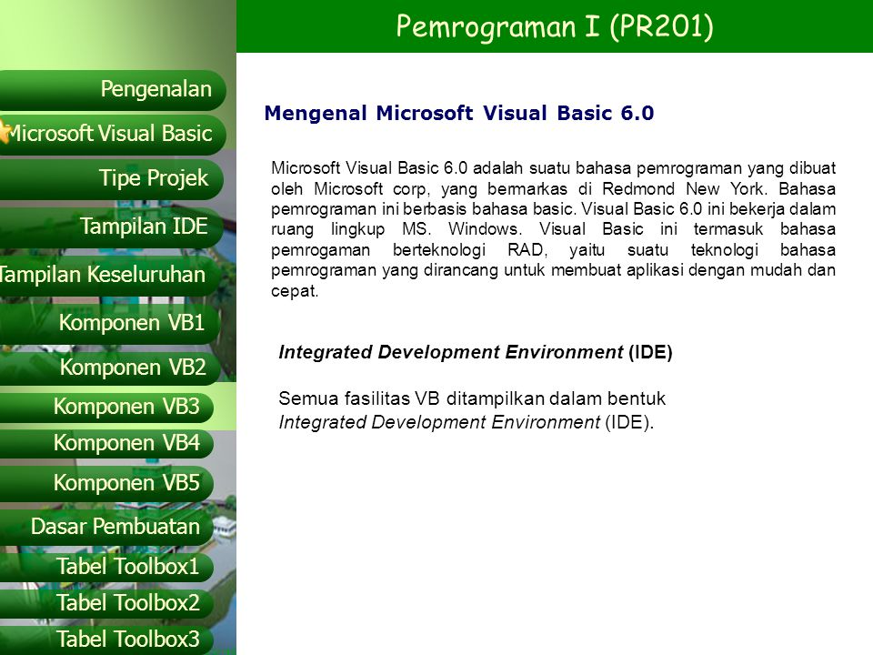 Mengenal Microsoft Visual Basic 6.0