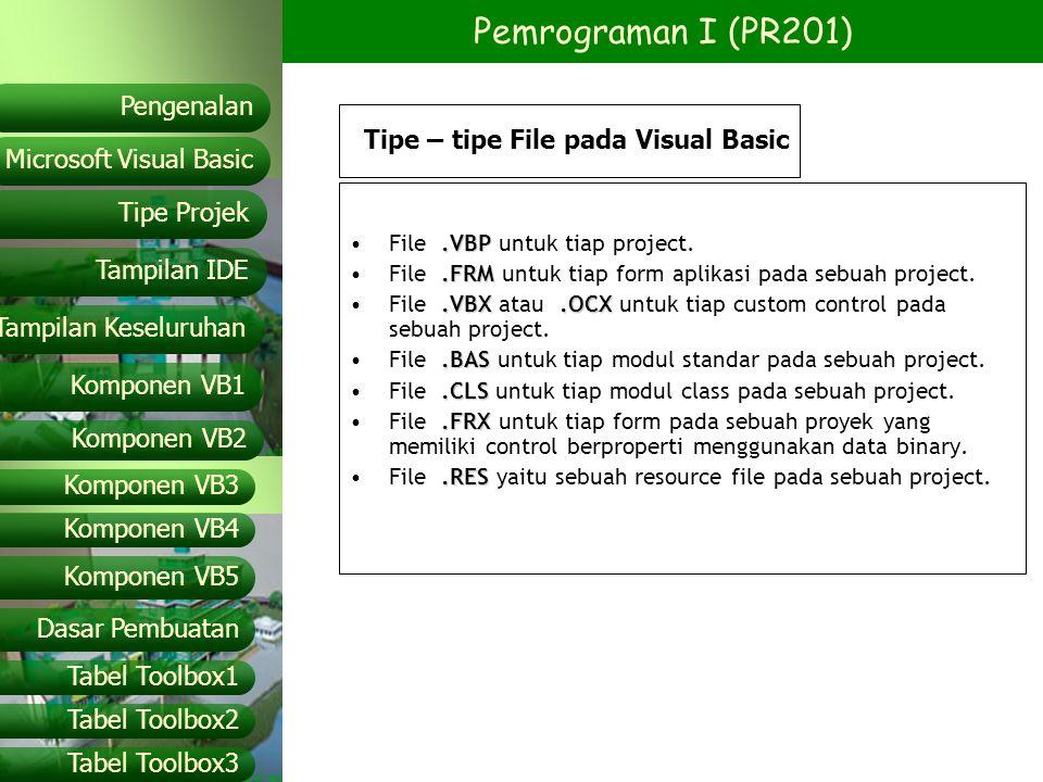 Tipe – tipe File pada Visual Basic