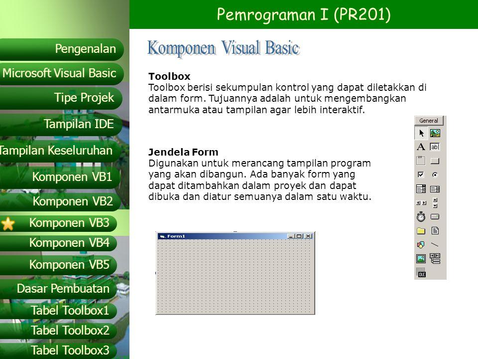Komponen Visual Basic Toolbox