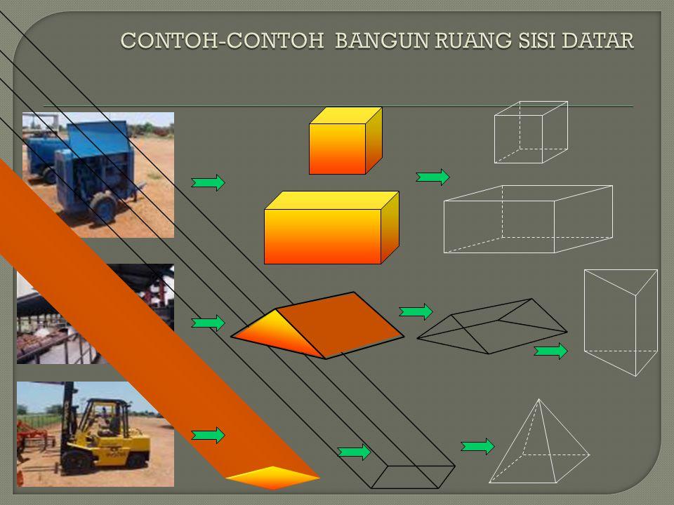 CONTOH-CONTOH BANGUN RUANG SISI DATAR