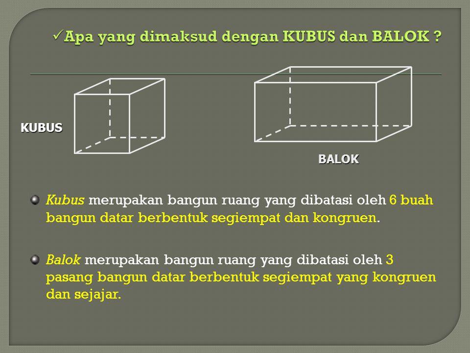 Apa yang dimaksud dengan KUBUS dan BALOK