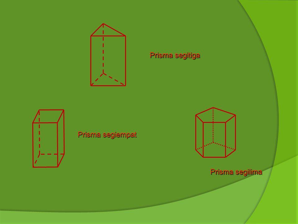 Prisma segitiga Prisma segiempat Prisma segilima